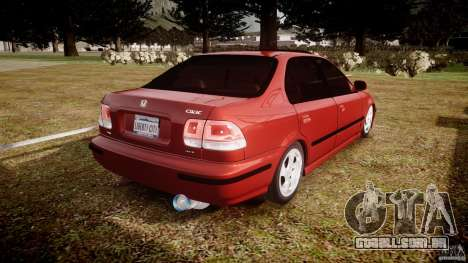 Honda Civic Vti para GTA 4 vista lateral