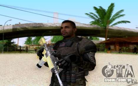 Salazar de CoD: BO2 para GTA San Andreas por diante tela