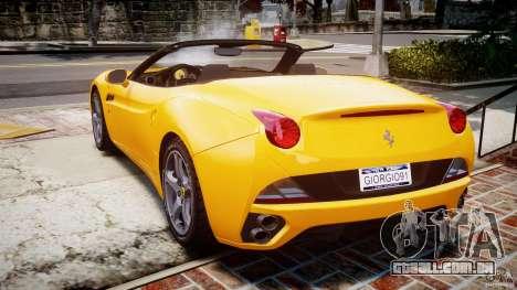 Ferrari California v1.0 para GTA 4 traseira esquerda vista