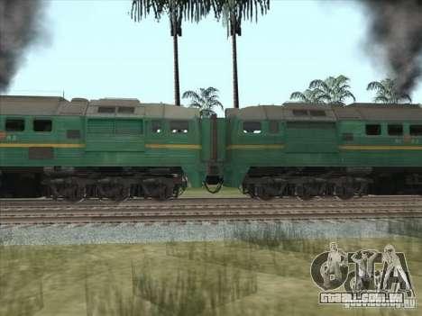 Estados bálticos locomotiva frete ferroviário im para GTA San Andreas esquerda vista
