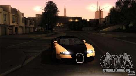 Bugatti Veyron 16.4 para GTA San Andreas vista inferior