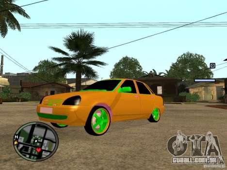 VAZ-2174 Priora Crazy Taxi para GTA San Andreas