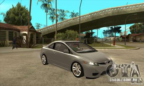 Honda Civic Si - Stock para GTA San Andreas vista traseira
