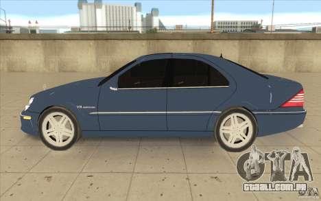 Mercedes-Benz S-Klasse para GTA San Andreas esquerda vista