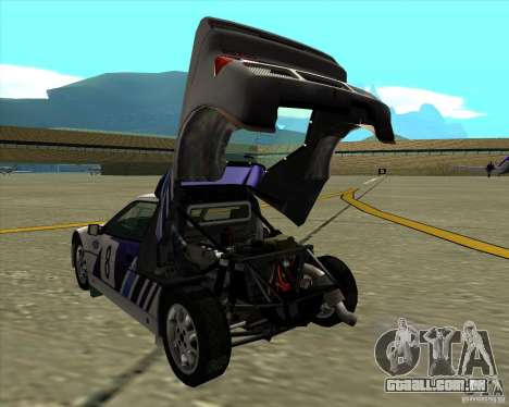 Ford RS200 rally para GTA San Andreas vista direita