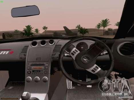 Nissan 350Z Nismo S-Tune para GTA San Andreas vista superior