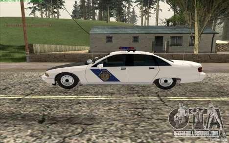 Chevrolet Caprice Police para GTA San Andreas esquerda vista