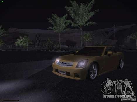 Cadillac XLR 2006 para GTA San Andreas vista superior