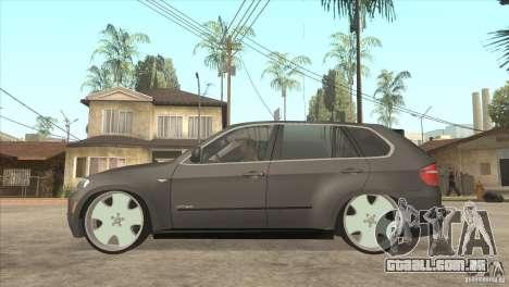 BMW X5 dubstore para GTA San Andreas esquerda vista