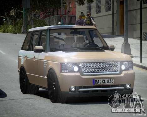 Land Rover SuperSharged para GTA 4 traseira esquerda vista