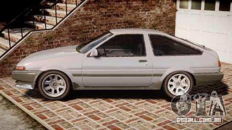 Toyota Sprinter Trueno 1986 para GTA 4 esquerda vista