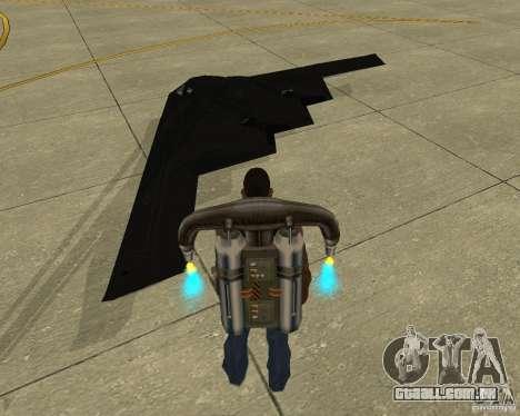 B-2 Spirit Stealth para GTA San Andreas esquerda vista