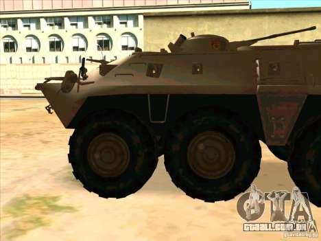 BTR-80 para GTA San Andreas esquerda vista