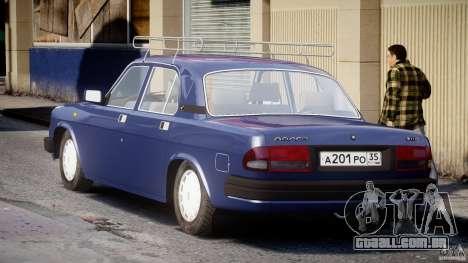 GAZ 3110 Volga para GTA 4 vista lateral