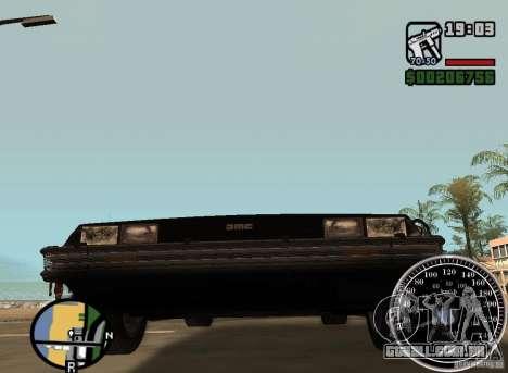 Crysis Delorean BTTF1 para GTA San Andreas vista traseira
