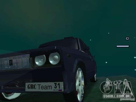 Rei do Drift 2105 VAZ para GTA San Andreas traseira esquerda vista