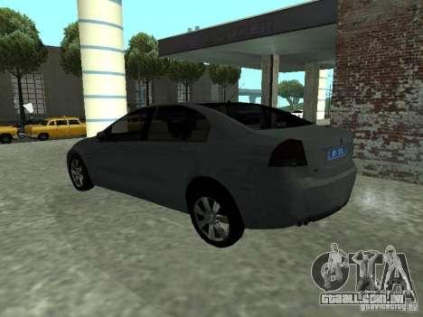Holden Calais para GTA San Andreas esquerda vista