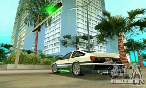 Toyota Trueno AE86 4type para GTA Vice City deixou vista