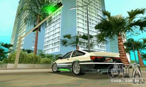 Toyota Trueno AE86 4type para GTA Vice City deixou vista