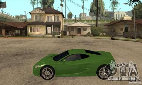 Ascari KZ1 para GTA San Andreas esquerda vista