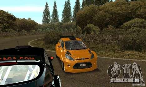 Ford Fiesta Rally para GTA San Andreas vista traseira