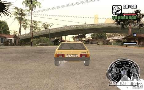 VAZ 21093i para GTA San Andreas vista traseira