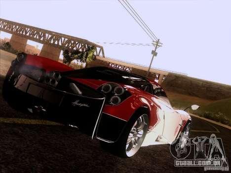 Pagani Huayra 2012 para GTA San Andreas vista traseira