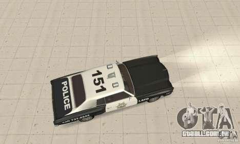 Chevrolet Monte Carlo 1970 Police para GTA San Andreas traseira esquerda vista
