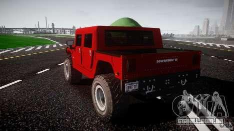Hummer H1 4x4 OffRoad Truck v.2.0 para GTA 4 vista lateral