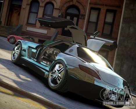 Mercedes SLS Extreme para GTA 4 vista superior
