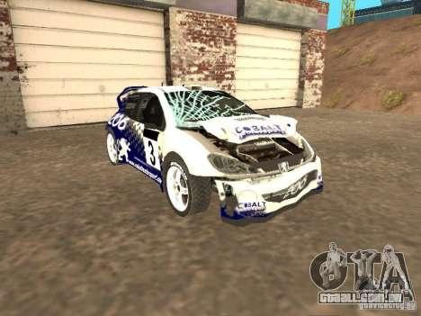 Peugeot 206 WRC de Richard Burns Rally para GTA San Andreas vista interior