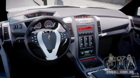 Carbon Motors E7 Concept Interceptor NYPD [ELS] para GTA 4 vista direita