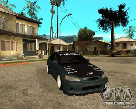 Honda Civic Coupe V-Tech para GTA San Andreas vista traseira