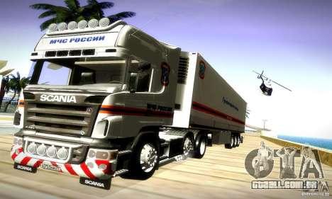 Scania R620 Emercom da Rússia para GTA San Andreas vista direita