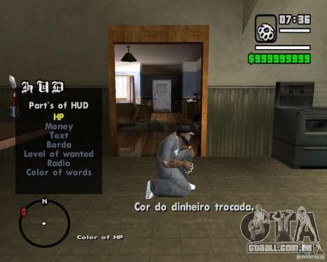 Change Hud Colors para GTA San Andreas por diante tela