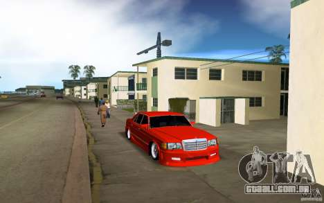 Mercedes-Benz W126 Wild Stile Edition para GTA Vice City deixou vista