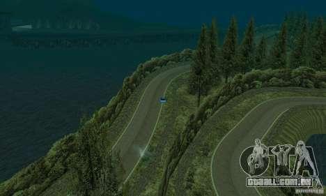 A rota do rali para GTA San Andreas