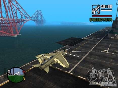 A-7 Corsair II para GTA San Andreas esquerda vista