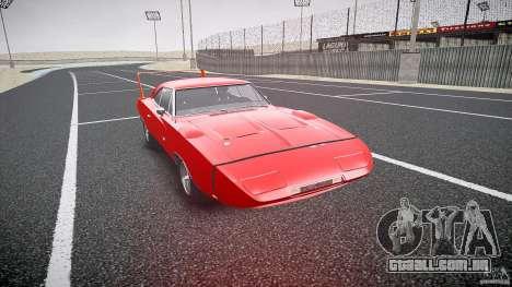 Dodge Charger Daytona 1969 [EPM] para GTA 4 vista de volta