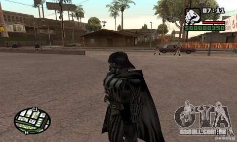Darth Vader para GTA San Andreas terceira tela
