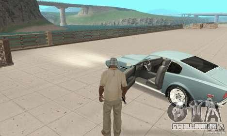 Aston Martin V8 para GTA San Andreas vista traseira