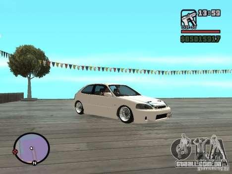 Honda Civic EK9 JDM para GTA San Andreas vista direita