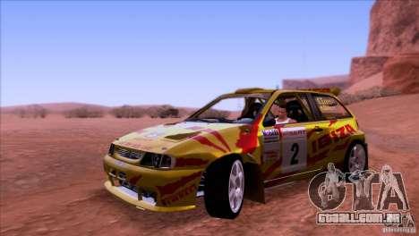 Seat Ibiza Rally para GTA San Andreas esquerda vista
