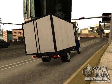 GAZ 3302-14 para GTA San Andreas traseira esquerda vista