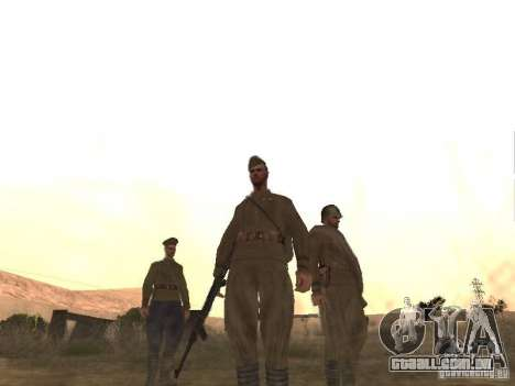 Pele de soldado soviético de II Guerra Mundial para GTA San Andreas terceira tela