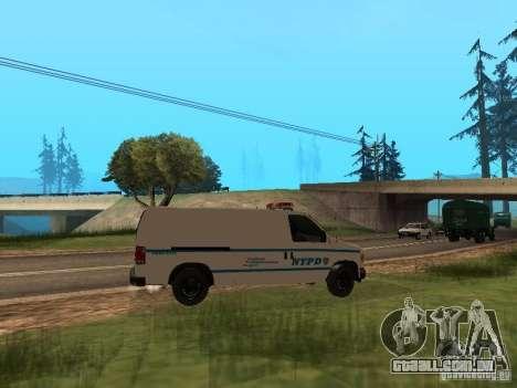 Ford E-150 NYPD Police para GTA San Andreas vista direita