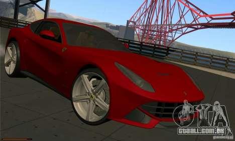 Ferrari F12 Berlinetta BETA para GTA San Andreas esquerda vista