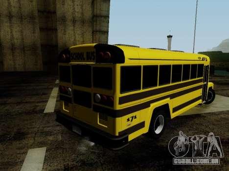 International Harvester B-Series 1959 School Bus para GTA San Andreas esquerda vista