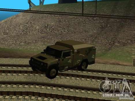 Hummer H2 Army para GTA San Andreas vista interior