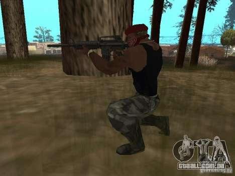 M4A1 para GTA San Andreas quinto tela